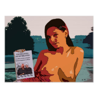 Mujer con las tetas al aire colorida en Stowe con  Poster
