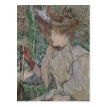 Mujer con los guantes, 1891 postal