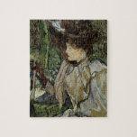 Mujer con los guantes por Toulouse-Lautrec Rompecabeza