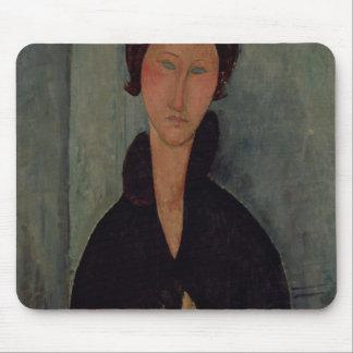 Mujer con los ojos azules, c.1918 tapetes de raton