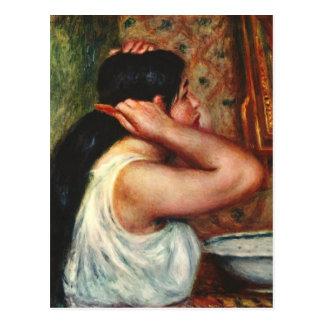 Mujer con los peines del pelo de Pedro Renoir Postales