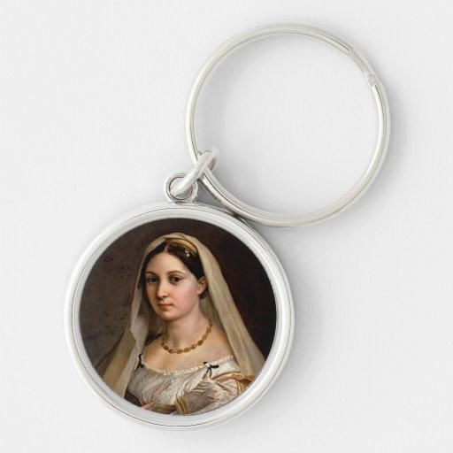 Mujer con Raphael Santi de Donna Velata del La del Llavero