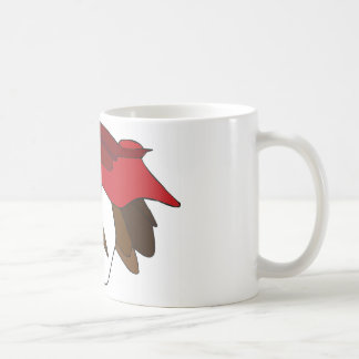 Mujer con Red Hat Taza