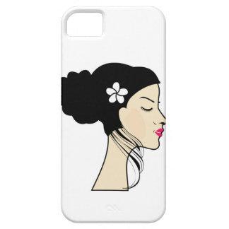 mujer con un bollo funda para iPhone SE/5/5s