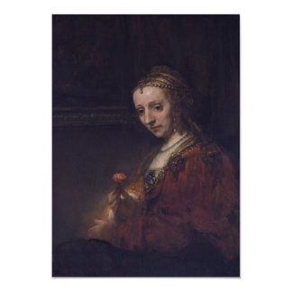 Mujer con un clavel rosado de Rembrandt Van Rijn Comunicados Personalizados