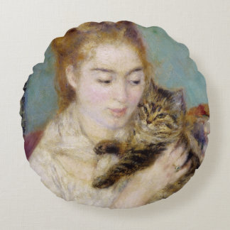 Mujer con un gato, c.1875 (aceite en lona) 2