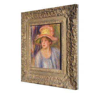 ¿Mujer con un gorra, c.1915-19? Impresión En Lona Estirada