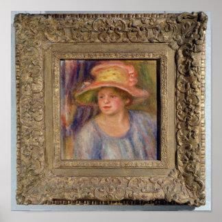¿Mujer con un gorra, c.1915-19? Póster