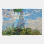 Mujer con un impresionista de Claude Monet del Toallas De Mano