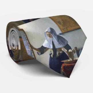 Mujer con un jarro de agua de Juan Vermeer Corbatas