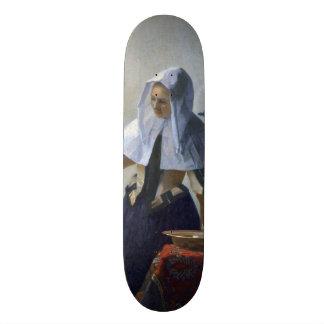 Mujer con un jarro de agua de Juan Vermeer Patineta Personalizada