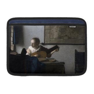 Mujer con un laúd de Juan Vermeer Funda MacBook