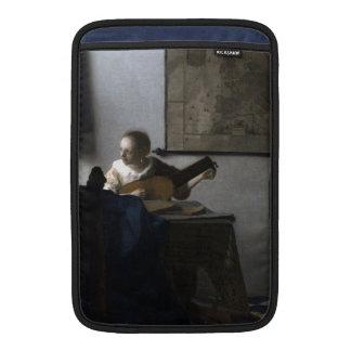 Mujer con un laúd de Juan Vermeer Funda Macbook Air