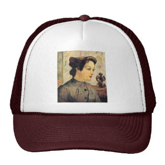 Mujer con un moño de Paul Gauguin (la mejor calida Gorro