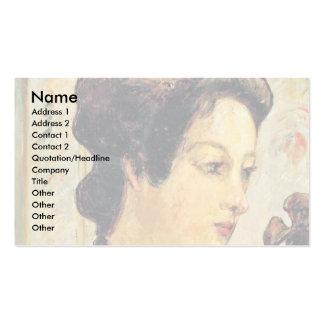 Mujer con un moño de Paul Gauguin (la mejor calida Plantilla De Tarjeta Personal