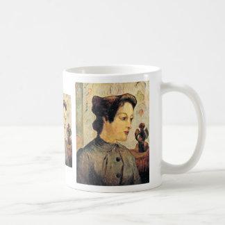 Mujer con un moño de Paul Gauguin (la mejor calida Tazas De Café
