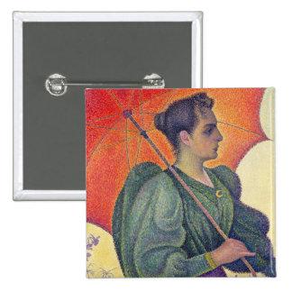 Mujer con un parasol, 1893 pin cuadrado