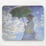 Mujer con un parasol alfombrillas de ratones