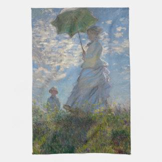 Mujer con un parasol de Claude Monet