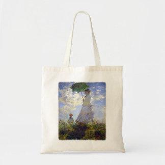 Mujer con un parasol de Claude Monet Bolsa Tela Barata