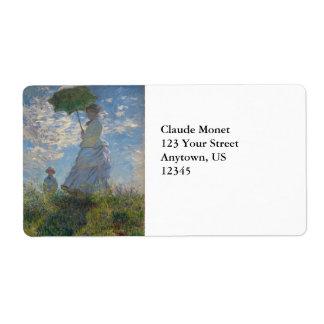 Mujer con un parasol de Claude Monet Etiqueta De Envío