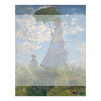 "Mujer con un parasol de Claude Monet Folleto 8.5"" X 11"""
