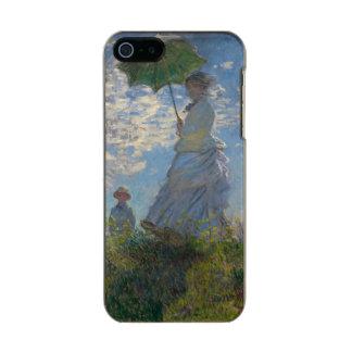 Mujer con un parasol de Claude Monet Funda Para iPhone 5 Incipio Feather Shine