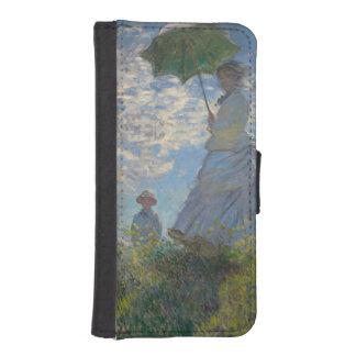 Mujer con un parasol de Claude Monet Cartera Para Teléfono