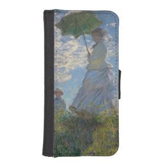 Mujer con un parasol de Claude Monet Cartera Para iPhone 5