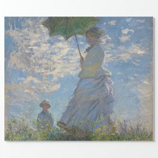 Mujer con un parasol de Claude Monet Papel De Regalo