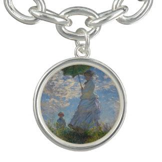 Mujer con un parasol de Claude Monet Pulseras