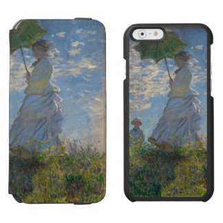 Mujer con un parasol de Claude Monet Funda Cartera Para iPhone 6 Watson
