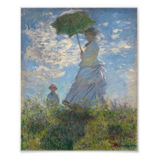 Mujer con un parasol - señora Monet y su hijo Cojinete