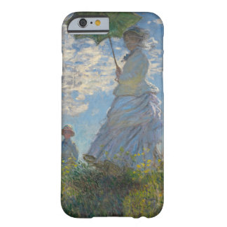 Mujer con un parasol - señora Monet y su hijo Funda De iPhone 6 Barely There