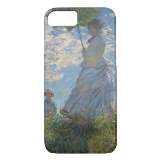 Mujer con un parasol - señora Monet y su hijo Funda iPhone 7