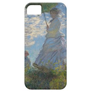 Mujer con un parasol - señora Monet y su hijo Funda Para iPhone SE/5/5s