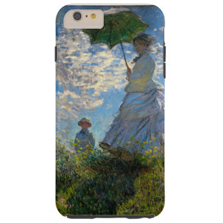 Mujer con un parasol - señora Monet y su hijo Funda Resistente iPhone 6 Plus