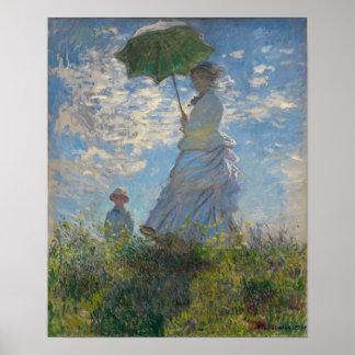 Mujer con un parasol - señora Monet y su hijo Impresiones