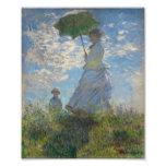 Mujer con un parasol - señora Monet y su hijo Impresion Fotografica