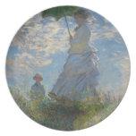 Mujer con un parasol - señora Monet y su hijo Plato