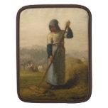 Mujer con un rastrillo - mijo de Jean-François Fundas Para iPads