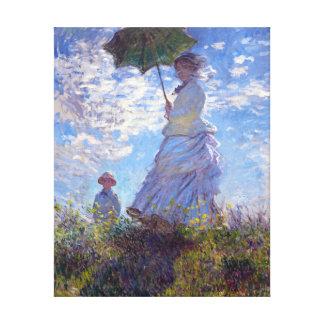 Mujer con una bella arte de Claude Monet del