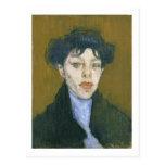 Mujer con una bufanda azul, c.1912 (aceite en lona postal