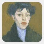 Mujer con una bufanda azul, c.1912 (aceite en colcomanias cuadradass