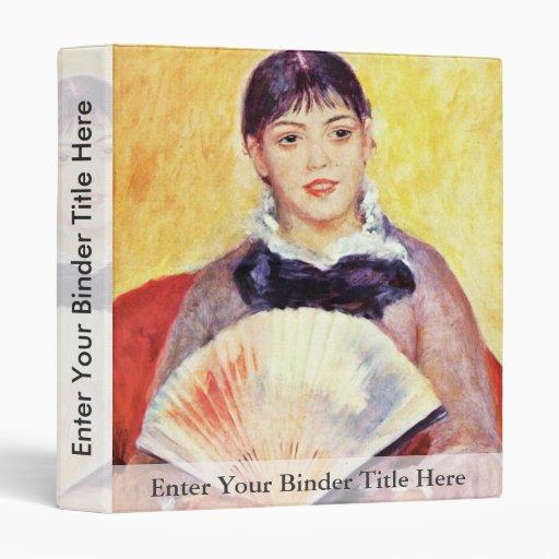 Mujer con una fan de Pierre-Auguste Renoir
