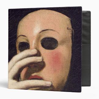 """Mujer con una máscara carpeta 1 1/2"""""""