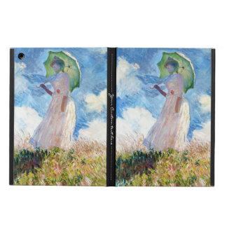 Mujer con una pintura de la señora de Claude Monet