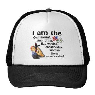 Mujer conservadora gorra