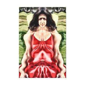 Mujer cubista impresiones en lona