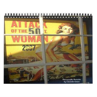 mujer de 50 pies, 2007, Memoriesby fotográfico Calendario De Pared
